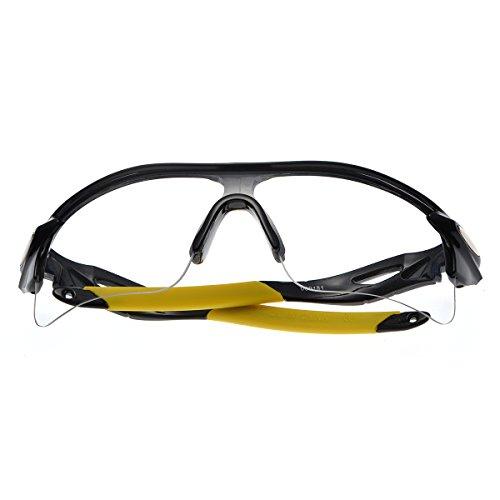 Men's cycling sunglasses black frame and yellow leg transparent - Mens Sunglasses Nordstrom