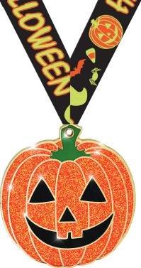 2.25'' Glitter Pumpkin Medal 50 Pack Prime