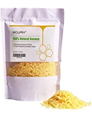 UniM Organic Beeswax Pellets Premium Natural Pure Bees Wax - No Toxic Pesticides or Chemicals - Cosmetic Grade Triple Filtered Beeswax for DIY Candles/Lip Balm/Skin Care - 1lb