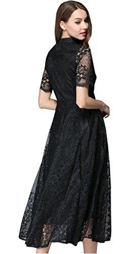 Shineflow - Vestido - trapecio - para mujer negro