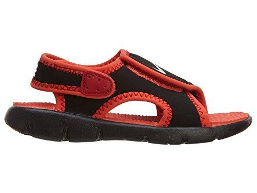 NIKE Boy's Sunray Adjust 4 (TD) Toddler Sandal Black/Red Size 9 M US ()