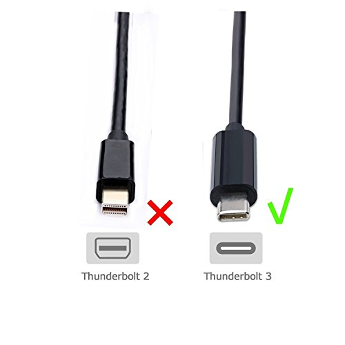 USB-C To VGA ,CableDeconn Thunderbolt 3 Type C to VGA Male Converter Adapter Cable 1.8M for New Macbook Google Chromebook Pixel,Dell XPS 13 15 Huawei Mate10 by CableDeconn (Image #4)'