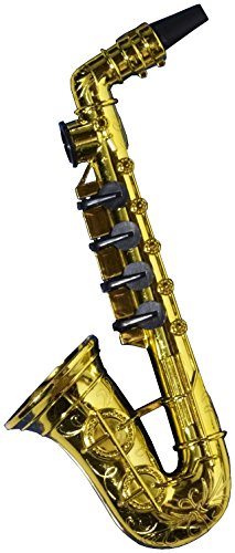 Forum Novelties Gold Saxophone Party Kazoo Play Musical Instrument (Fake Trumpet)