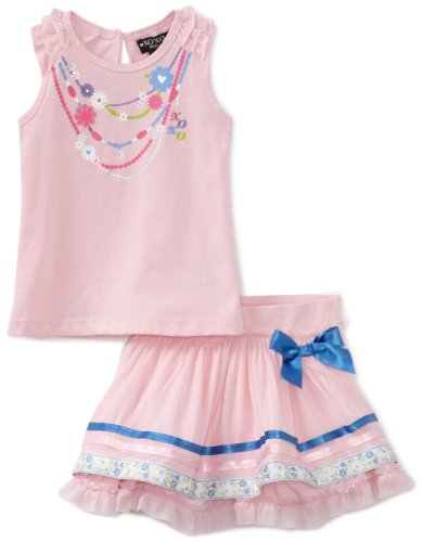 Xoxo Baby Girls' 3D Art In Front Skooter Set, Pink, 12 Months