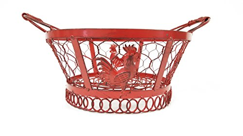 round-red-rooster-metal-basket-small