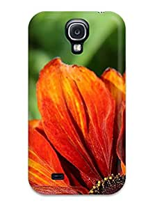 Case For Galaxy S4 With Orange Flowers