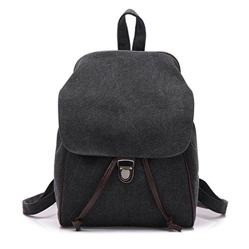 FOLLOWUS - Bolso mochila  de Lona para mujer negro