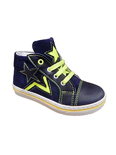 Gialla Mainapps Alta Con Shoe Stella Pretti Blu Fluo Sneaker Giallo EqpwxY8