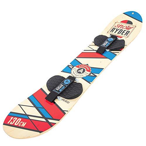 Airhead Snow Ryder 130cm Hardwood Snowboard w/Velcro Bindings