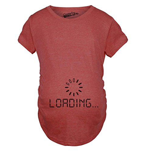 Crazy Dog TShirts - Maternity Baby Loading Shirt Humor Funny Pregnancy Shirts Cheap Tees (Red) XXL - damen - XXL