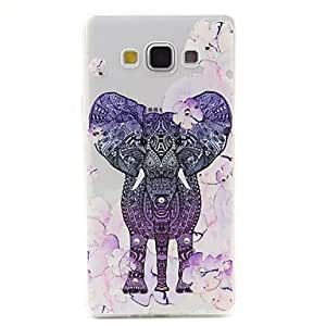 DD 20150511 Emboss TPU Colored Drawing Diamonds Back Cover Case for Samsung Galaxy A7