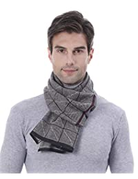Winter Scarf for Men Warm Business Scarf Solid Cashmere Scarves Soft Winter Wrap