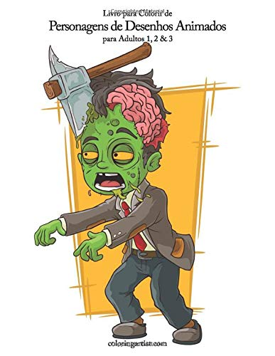 Livro Para Colorir De Personagens De Desenhos Animados Para