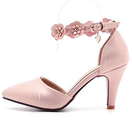 2 Women Pumps Strap Pink RAZAMAZA Ankle 0zwAqqU7