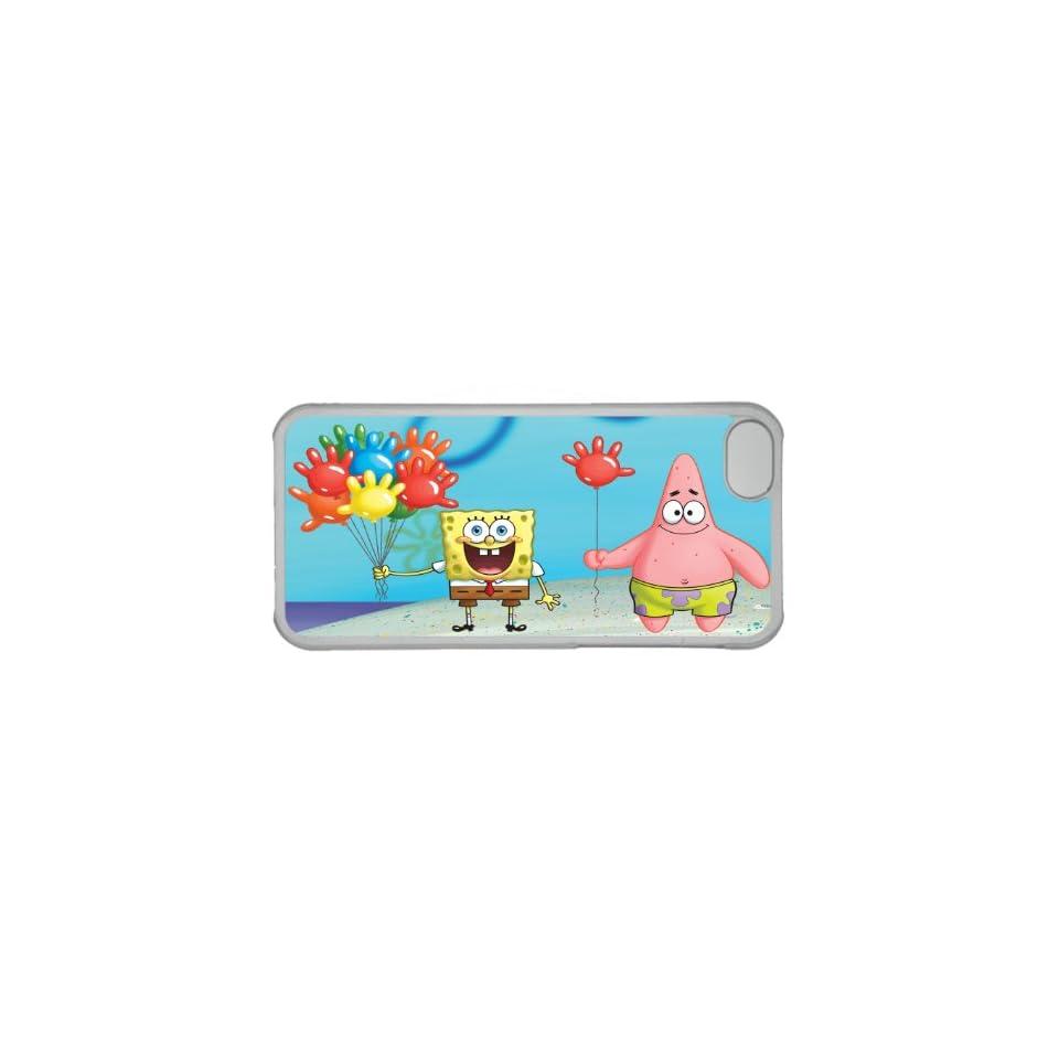 iPhone 5C Case Spongebob Squarepants,Spongebob and Patrick Personalized Blue Case Cell Phones & Accessories