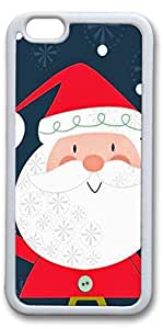 iPhone 6 Cases, Santa Personalized Custom Soft TPU White Edge Case Cover for New iPhone 6 4.7 inch