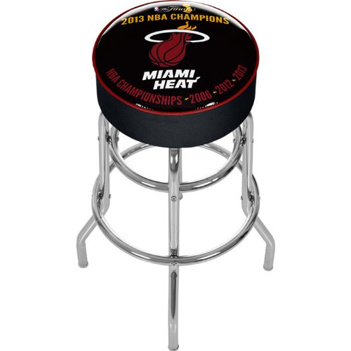 NBA Miami Heat 2013 NBA Champions Padded Swivel Bar Stool by Trademark Gameroom