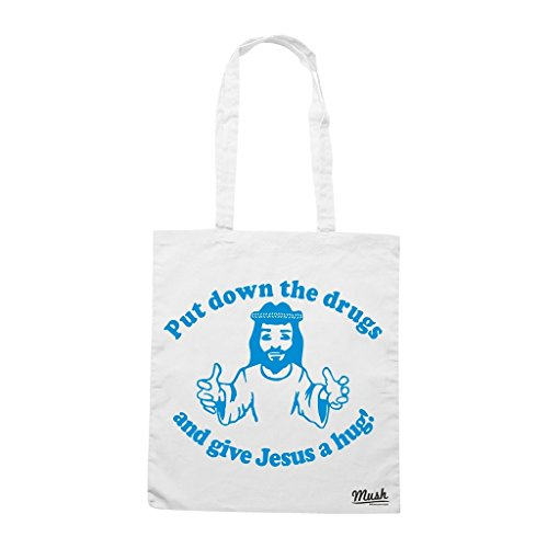 Borsa Put Down The Drugs And Give Jesus A Hug - Bianca - Funny by Mush Dress Your Style