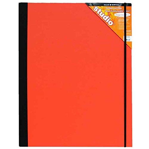Daler-Rowney Cachet Studio Portfolio, Hard Cover with Elastic Closure, 20 x 26 inches, Tangerine Tango (468328026)