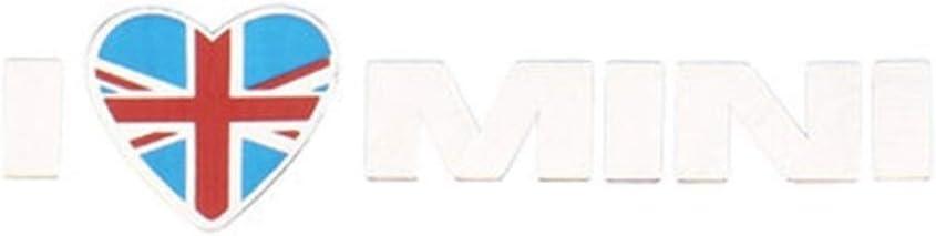 Automotive Interior pegatinas Union Jack metal AMO MINI etiqueta engomada del emblema de calcomanías for el País Cooper Clubman Hombre Accesorios for el coche (Color Name : Red Union Jack)