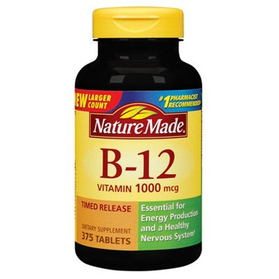 Nature Made Vitamin B12 1000 mcg 375 Timed Release Tablets by Nature Made