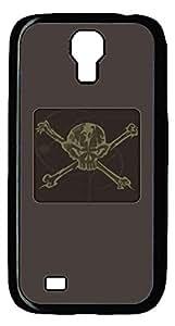 Samsung Galaxy S4 I9500 Black Hard Case - C1 Skull Galaxy S4 Cases