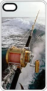 Deep Sea Fishing Pole Big Tuna Clear Rubber Case for Apple iPhone 4 or iPhone 4s