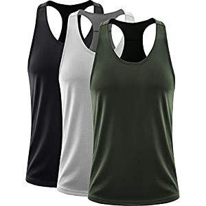 Neleus Men's 3 Pack Dry Fit Workout Running Muscle Tank Top