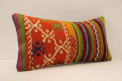 - Kilim pillow 10x20 inches (25x50 cm) Anatolian Kelim kissen cover Turkish Kilim Pillow Home Design Lumbar pillow