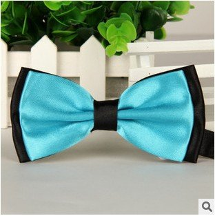 Best American Pet Bow Handmade Dog cat Bow Tie for Medium & Large Pets (Free Attached Soft Fabric Collar) Double Layer Butterfly Design (S6)