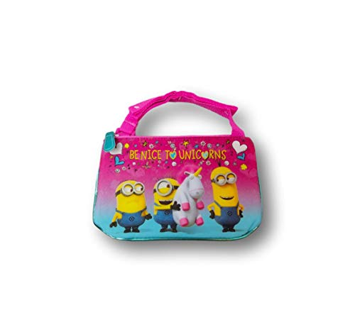 Disney Princess Purse for Toddler Girls - Character Cross Body Bags - Frozen, Wonder Woman, Minions (Minions Be Nice to Unicorns)