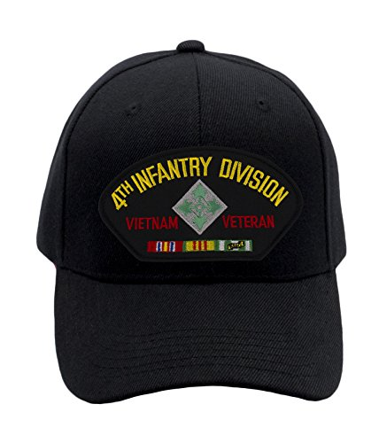 4th Infantry Division Vietnam (Patchtown 4th Infantry Division - Vietnam Veteran Hat/Ballcap Adjustable-Back One Size Fits Most)