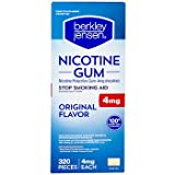 Berkley Jensen 4mg Uncoated Nicotine Gum, 320 ct. x2 AS