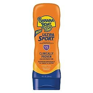 Banana Boat Ultra Sport Sunscreen Lotion, New Formula, SPF 15, 8 Ounces