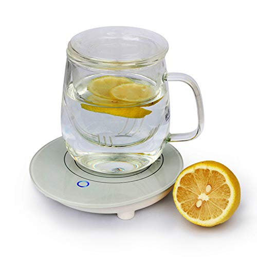 Coffee Warmer, Coffee Mug Warmer Cup Warmer Auto Shut Off Electric Beverage Warmer Up to 131℉/55℃ for Home Office Tea Milk Cocoa Use (USB) ()