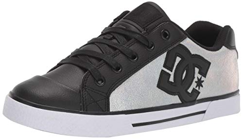 DC Women's Chelsea SE Skate Shoe, Black/Splatter, 8.5 M US