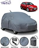 Fabtec Car Body Cover for Hyundai Elite i20 with Mirror Antenna Pocket Storage Bag Combo (Heavy Duty)