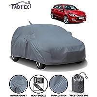 Fabtec Car Body Cover for Hyundai Elite i20 with Mirror Antenna Pocket Storage Bag Combo (Heavy Duty)