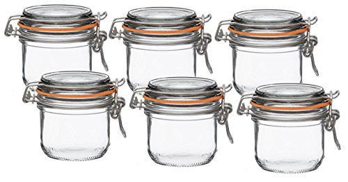Le Parfait Super Terrines - Wide Mouth French Glass Preserving Jars - Consumer Packs (1, 200ml (Set of 6))