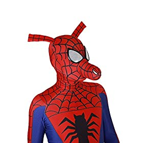 - 41Ff9S66hcL - Spider-Man Into The Spider-Verse Costume Spin Vision Spider-Ham Cosplay Zentai Suit