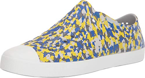 Native Shoes Unisex Jefferson Mist Grey/Shell White/Konpeito Print 7 Women / 5 Men M US