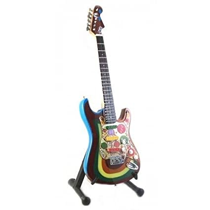 Mini Guitarra BEATLES GEORGE HARRISON Rocky Figurilla Presente