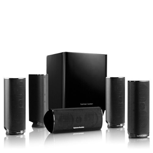 Harman Kardon HKTS 16BQ 5.1 Channel Home Theater Speaker Package (Black) by Harmon Kardon