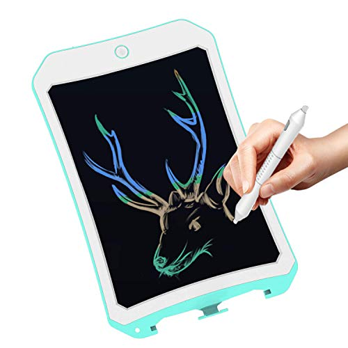 8.5 in Colorful Electronic Drawing Pads for Kids, Portable Reusable Erasable writer, Elder Message Board, 4-8 Years Old Boys for Digital Handwriting Pad Doodle Board for School (Green-cc)