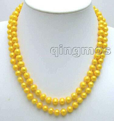 FidgetFidget AA+ Double String 7-8MM FW Pearl - Necklace 8mm Fw Pearl