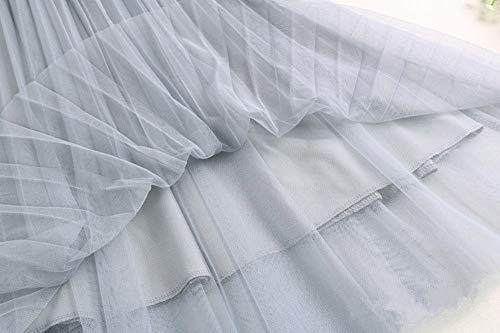 Double Couche Cocktail Morbuy Ligne Elastique Blanc Longue Maille Jupe Femme Pliss Casual lgante A Taille Jupe xwzvx0n