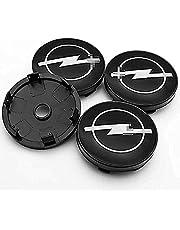 4 Stuks Auto Hub Center Caps, voor OPEL Corsa Ampera Astra Insignia Combo Vivaro Mokka 60MM Wheel Center met Auto Logo Embleem Sticker Accessoires