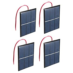 41FfBR%2B8gZL. SS300  - Set of 4 Pieces NUZAMAS 1.5V 0.65W 60X80mm Micro Mini Solar Panel Cells For Solar Power Energy, DIY Home, Science Projects - Toys - Battery Charger