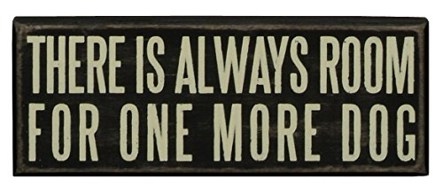 Primitives by Kathy Wood Box Sign, 8-Inch by 3-Inch, One More Dog (First House Frame Picture)
