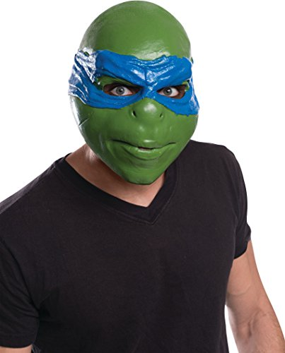 Mens Ninja Turtle Costumes (Rubie's Costume Men's Teenage Mutant Ninja Turtles Movie Leonardo Adult 3/4 Mask, Multi, One Size)